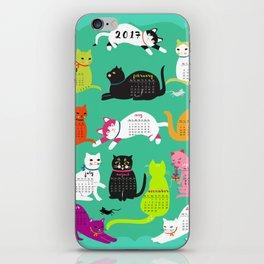 Cats Calendar 2017 iPhone Skin