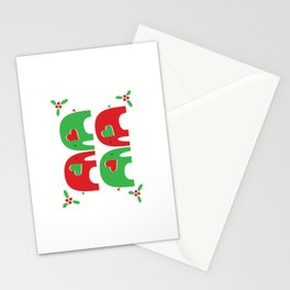 Elephant Christmas Party Stationery Cards