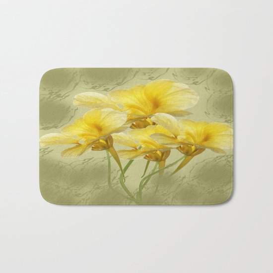 Summer Day Floral Bath Mat