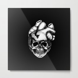 Smiling Heart Metal Print