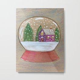 Snow Globe Metal Print
