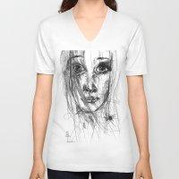 leah flores V-neck T-shirts featuring LEAH by EDEN