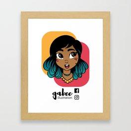 Gabee Illustration Framed Art Print