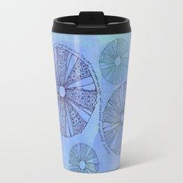 Blue Sea Urchin Travel Mug