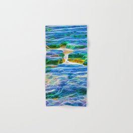 Abstract rock pool in the rough rocks in Queensland Hand & Bath Towel