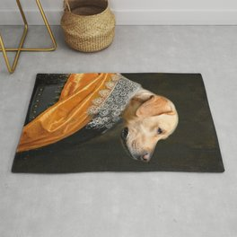Labrador Dog pet classic royal oil painting Rug