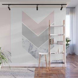 Scandinavian Marble Blush Gray Wall Mural
