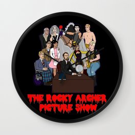 The Rocky Archer Picture Show Wall Clock