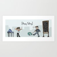 pacific rim Art Prints featuring Pacific Rim - Angry Yelling by feriowind