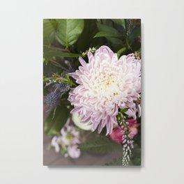Dahlia in Bloom  |  Fresh Cut Flowers Metal Print