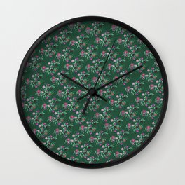 Succulent Hues, Floral Pattern Wall Clock