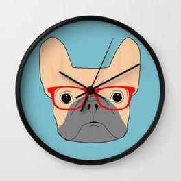 Fawn Bulldog Wall Clock