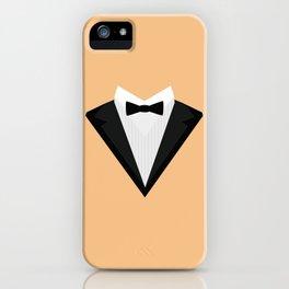 Black Tuxedo Suit with bow tie T-Shirt D946n iPhone Case