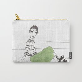 girl on the floor Carry-All Pouch