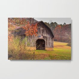 Rustic Barn in Autumn Metal Print