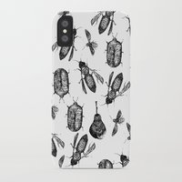 insects iPhone & iPod Cases featuring INSECTS by D E  W I L D E