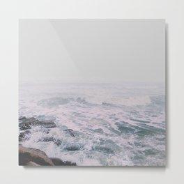 Foggy waves Metal Print