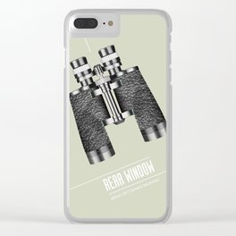 Rear Window - Alternative Movie Poster Clear iPhone Case