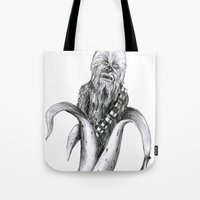 chewbacca Tote Bags featuring Chewbacca banana by ronnie mcneil