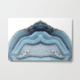 Light Blue Agate Metal Print