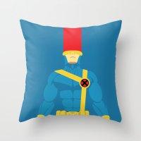 cyclops Throw Pillows featuring Cyclops by gallant designs