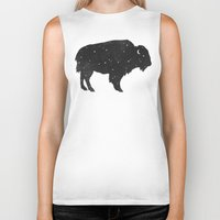 buffalo Biker Tanks featuring Mystic Buffalo  by Terry Fan