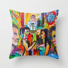 Donna Destri and Friends Throw Pillow