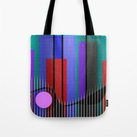 band Tote Bags featuring Jazz Band by Kristine Rae Hanning