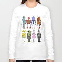robots Long Sleeve T-shirts featuring Robots by Annabelle Scott