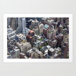 Roofs of New York. Art Print