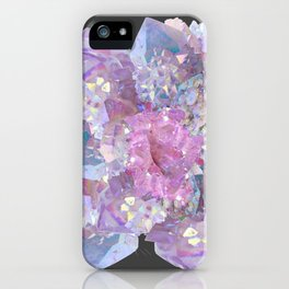 ROSE & PURPLE QUARTZ CRYSTALS MINERAL SPECIMEN iPhone Case