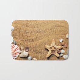 Summer Holiday Beach Scene Bath Mat