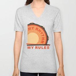 My Rhythm My Rules Unisex V-Neck