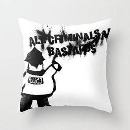 All Cops Throw Pillow
