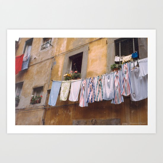 Clean Laundry ~ Italian Style Art Print