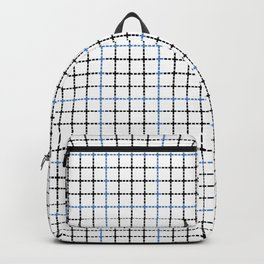 Dotted Grid Weave Blue Black Backpack