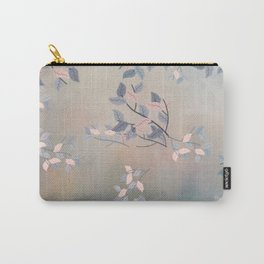 Blue Watercolor Woodland Leaves Carry-All Pouch