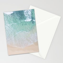 Green Ocean And Seashore Stationery Cards