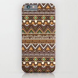 African Inspired Tribals iPhone Case