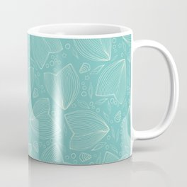 Underwater world turquoise pattern Coffee Mug