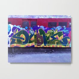 QUONE Train Piece Metal Print
