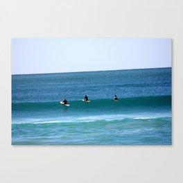 Surfers at Wanda Beach Canvas Print