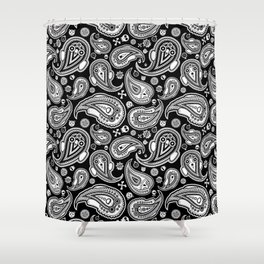 Ghosts Paisley Shower Curtain
