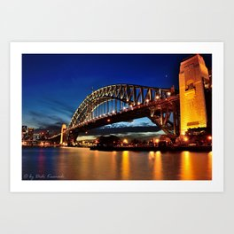 Looking West Beyond the Bridge Art Print