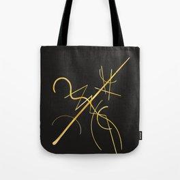 Kandinsky - Black and Gold Tote Bag
