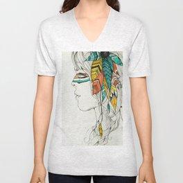 Native Woman Unisex V-Neck