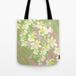 Grace Floral Swirl Tote Bag