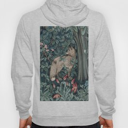 William Morris Forest Fox Tapestry Hoody