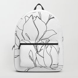 Botanical illustration line drawing - Magnolia Backpack