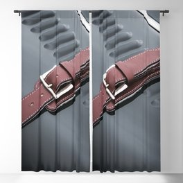 Red Leather Blackout Curtain